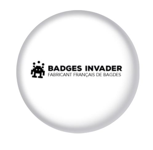 Badge personnalisé en France dans l'atelier de Badges Invader